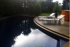 Espectacular casa de dos pisos con una piscina en venta en Pedralbes, Barcelona
