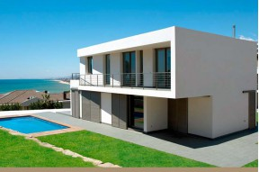 High tech house with amazing views of the sea in on the Maresme Coast, half an hour north of Barcelona
